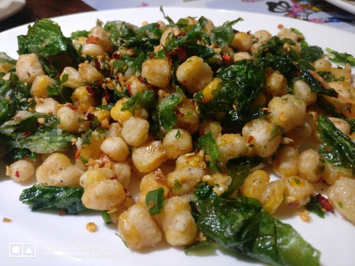 Corn and Spinach